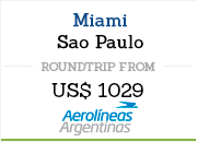 Flight Miami to Sao Paulo