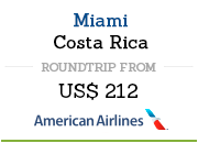 Flight Miami to Costa Rica